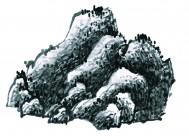 国画山石图片_95张