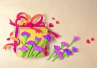 花朵场景纸雕图片_14张
