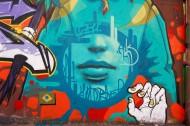 墙上抽象的涂鸦图片_13张