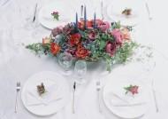 餐桌上的插花艺术图片_9张