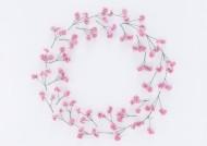 清新小花朵圆形边框图片_14张