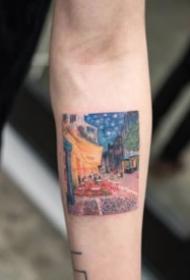 手臂上的世界名画与纹身搭配欣赏