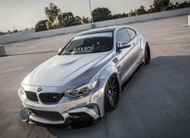 宝马M4银色改装跑车图片欣赏