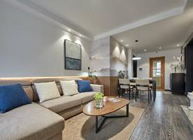 85㎡现代简约风格三居室,简单实用又温馨舒适