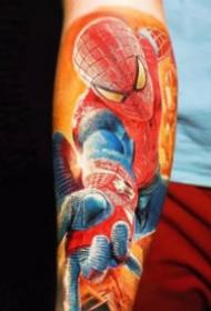 漫威主题的炫彩英雄人物纹身图案