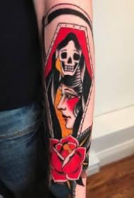 红色的一组欧美女郎纹身图片