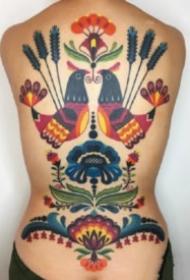 18张好看的彩色school小清新纹身图案
