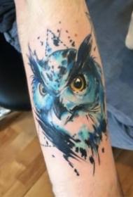 暗水彩风格的狮子等动物纹身图案18张