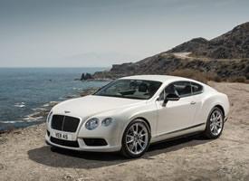 一组白色可爱系宾利欧陆GT V8 S汽车