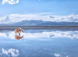 青海的茶卡盐湖 中国的天空之境