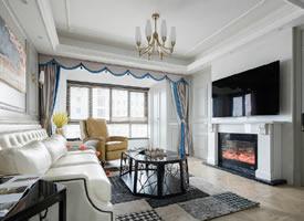 现代美式风三居室装修设计,精致典雅的灰色调给人一种高级感'