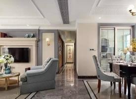 140㎡优雅美式三室两厅设计装修效果图