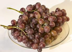 绿的发亮,红的发紫的晶莹剔透的葡萄