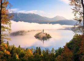 一组人间仙境布莱德湖高清图片欣赏