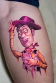粉红色主题的一组纹身作品9张