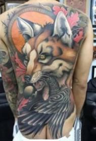 男士霸气的大满背纹身图案9张
