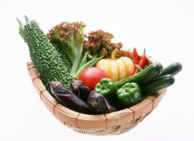 一组有营养含多种维生素的蔬菜