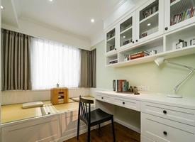 书房兼小次卧设计榻榻米装修效果图