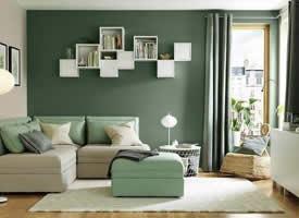 一组小清新感的绿色系家居装修效果图