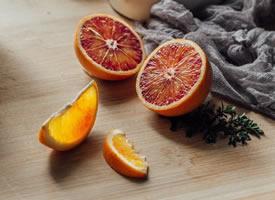 愿明天的太阳如这血橙的色泽般灿烂美好