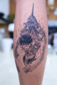 新世纪福音战士主题的动漫纹身作品