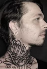 国外优秀的暗黑花体字纹身图片