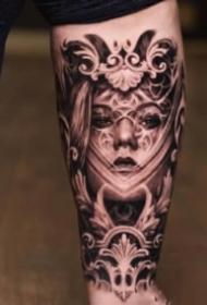 9张适合男生的的包臂欧美写实纹身图