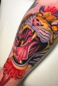 红色调的一组school漂亮纹身作品