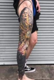 大面积的一组霸气纹身图片赏析