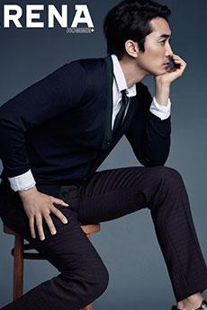 成熟稳重的韩国帅哥宋承宪杂志摄影写真图片