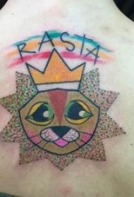 可爱小卡通纹身图案  多款创意而又可爱的小卡纹身图案