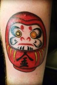 日式达摩纹身    奇特而又神秘的达摩吉祥娃娃纹身图案