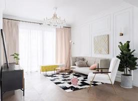 116㎡现代法式三居室,融入浪漫与优雅的生活