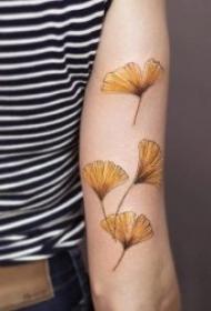 叶子纹身图案 多款彩绘植物叶子主题的纹身图案
