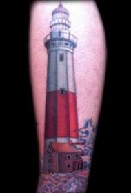 灯塔纹身  9款暗夜里若隐若现的灯塔纹身图案