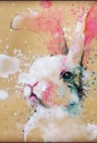 可爱兔子纹身  一组温和灵动的兔子纹身图案