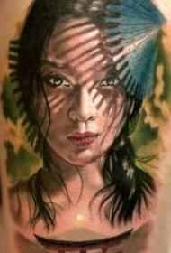 艺伎纹身图  绰约多姿而又姿态柔美的艺伎纹身图案