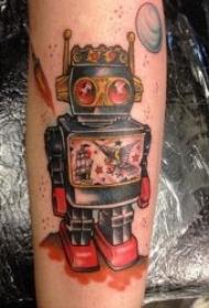 机器人纹身  多款造型百变的机器人纹身图案