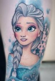 纹身动画图片大全 彩色纹身可爱卡通纹身动画图片大全图案