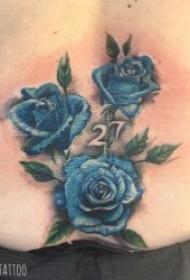 玫瑰图案纹身  娇艳而又美丽的玫瑰纹身图案
