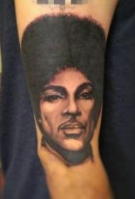 人物肖像纹身 10组黑灰写实人物肖像纹身图案