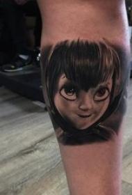 动漫纹身图案 黑灰纹身动物和人物的迪斯尼动画片动漫纹身图案