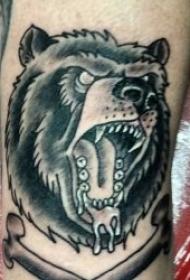 纹身熊图案   憨态可掬的狗熊纹身图案