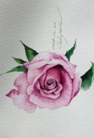 多款清新而又唯美的花朵纹身手稿