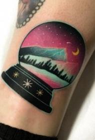 创意纹身图片  奇幻而又璀璨的8款星空纹身图案