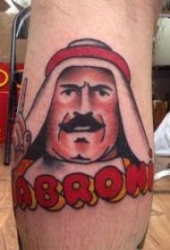 动画纹身图案 彩绘纹身异国风情的动画纹身图案