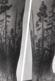 树林纹身图案  9款创意而又精彩的森林纹身图案