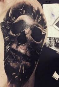 恐怖纹身图案  10款令人恐惧的写实骷髅纹身图案
