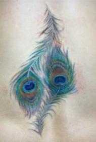 孔雀羽毛纹身 10款十分柔美的孔雀翎纹身图案
