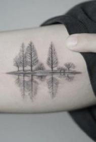 风景纹身图案 10张精致至极的小清新风景纹身图案